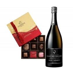 Billecart-Salmon Brut Reserve & Godiva Chocolates Gift Box