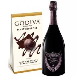 Dom Perignon Rose & Godiva Chocolates Gift Set