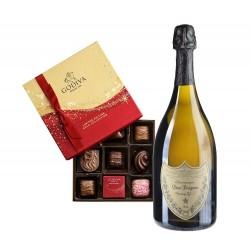 Dom Pérignon & Dark Chocolate Assortment Gift Box 8 pc.