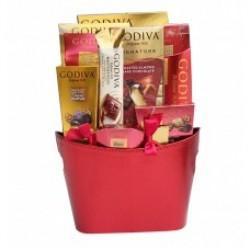 Godiva Gift Basket - Red