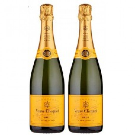 Veuve Clicquot Brut Yellow Label Champagne (Pack of 2)