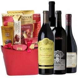 Customized Wine and Godiva Gift Basket